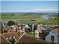 TQ9220 : View towards Camber and Rye Harbour by Oast House Archive