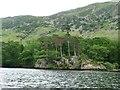 NY3917 : Rocky headland south of Blowick, Ullswater by Christine Johnstone