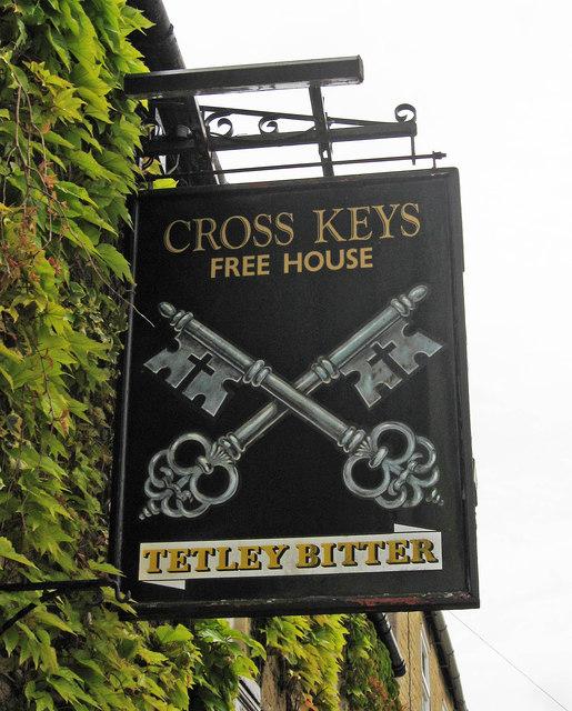 Cross Keys (2) - sign, 21 Elton Road, Wansford
