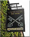 TL0798 : Cross Keys (2) - sign, 21 Elton Road, Wansford by P L Chadwick