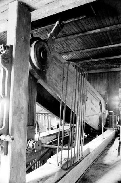 Goonvean China Clayworks - Cornish beam pumping engine
