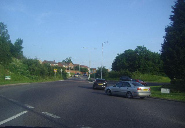 Roundabout on Golden Jubilee Way, Wickford