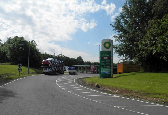 BP fuel station M6 Stafford srvices north