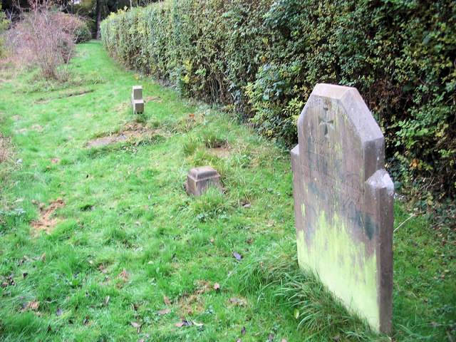 The Grave Stones in Hill End Hospital Cemetery, St Albans