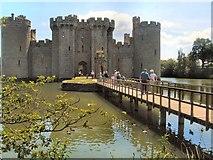 TQ7825 : Bodiam castle - Bridge over moat by Paul Gillett