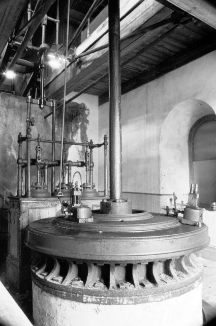 Goonvean China Clayworks - Cornish beam pumping engine.
