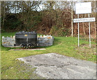 SS8591 : Coal dram alongside the Nantyffyllon boundary by Jaggery