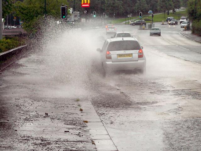 Pilkington Way in Heavy Rain