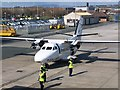 SC2768 : Aircraft on apron, Isle of Man Airport by David Martin