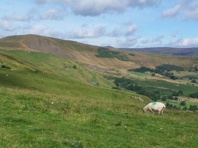 View from Cow Low looking towards Mam Tor