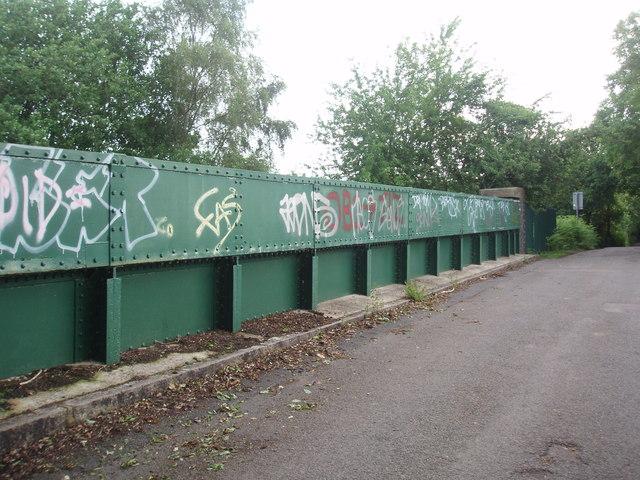 Graffiti on railway bridge on Mumford Lane