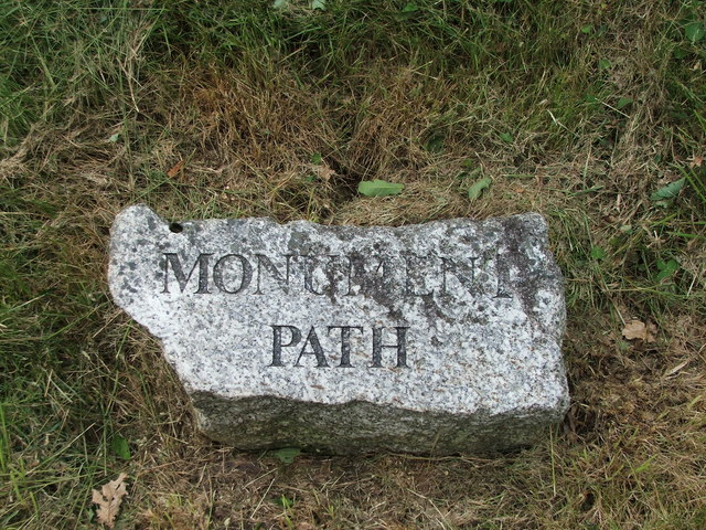 Nameplate for Monument Path