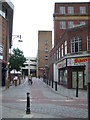 TQ1096 : Narrow lane in Watford town centre by Malc McDonald