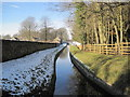 NY9875 : Watercourse from Hallington Reservoir by Les Hull