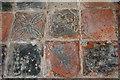 TQ7126 : Encaustic tiles, Etchingham church by Julian P Guffogg