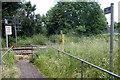 SP9236 : Footpath across the railway line by Philip Jeffrey
