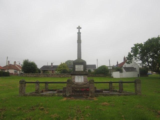 War Memorial, East Ord