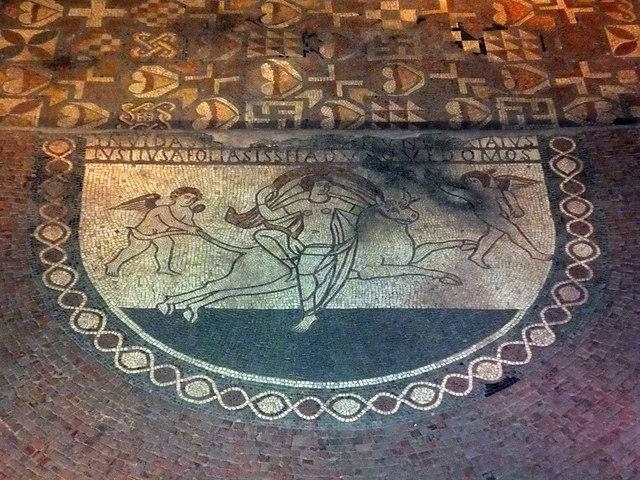 Mosaic At Lullingstone Roman Villa 169 Paul Farmer