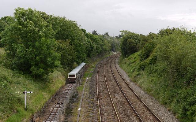 Railways tracks at Ravenglass