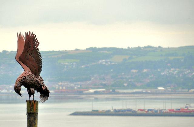 Peregrine sculpture, Belfast Castle