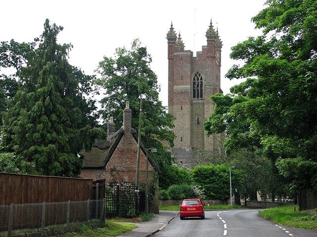 Cottenham: All Saints' tower from Twentypence Road