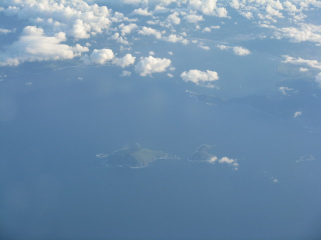 Scarriff Island from the air