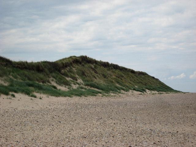 Scolt Head Island Traverse 3: High dunes seen from the beach