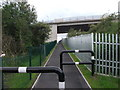 SJ3172 : Cycle track/footpath under the A548 by John Haynes