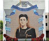 J4073 : James Magennis VC mural, Tullycarnet, Belfast by Albert Bridge