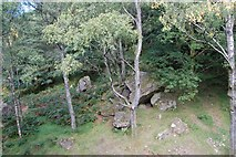 NY2516 : View from top of Bowder Stone by Stephen Darlington