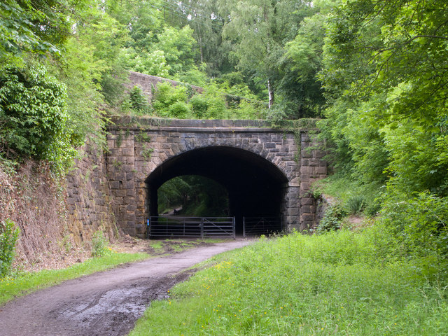Eastern portal of old railway tunnel at Beamish