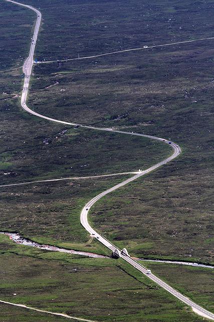 The A82 on Rannoch Moor