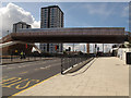 TQ3883 : Olympic access bridge over the Greenway by Stephen Craven