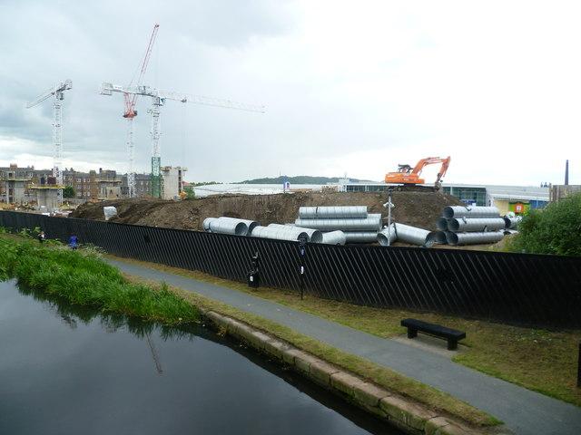 Construction work at Fountainbridge