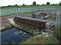 SJ3371 : Burton and Puddington land drainage pumping station by John Haynes
