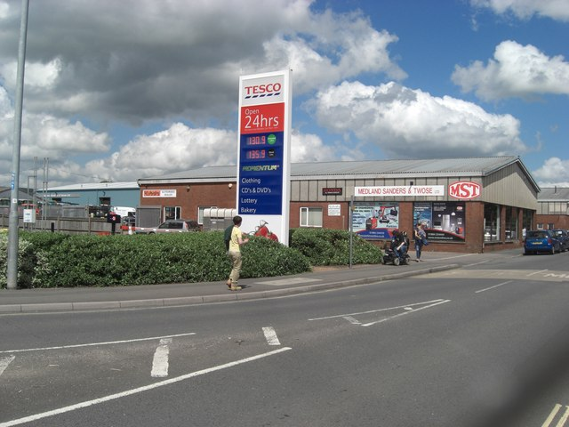 Tesco's Petrol Sign and Medland Sanders and Twose