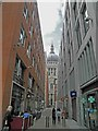 TQ3281 : St. Paul's from Newgate by Steve  Fareham