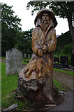 SD4464 : Fisherman, Morecambe Cemetery by Ian Taylor