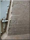 SH5571 : Benchmark on the NW buttress of the Menai Suspension Bridge, Menai Bridge by Meirion