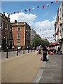 SO8554 : Jubilee bunting, Worcester High Street by Philip Halling