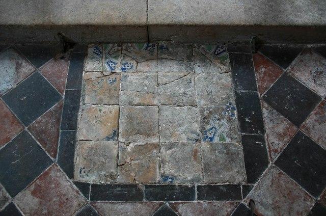 St Mary, Luddenham - Medieval tiles