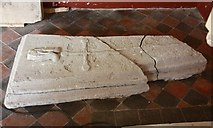 TQ9963 : St Mary, Luddenham - Coffin lid by John Salmon