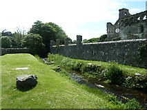 SM7525 : River Alun by the Bishop's Palace by Dave Spicer