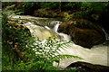 SH6806 : Nant Gwernol Waterfall, Abergynolwyn, Gwynedd by Peter Trimming