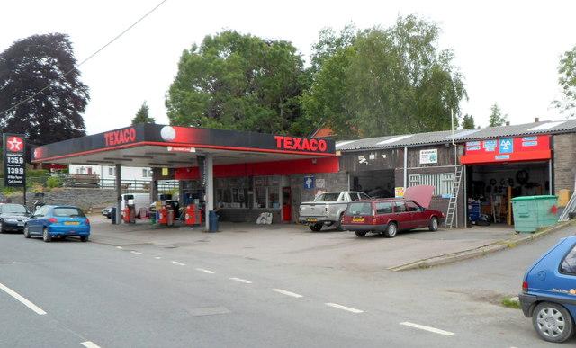 Texaco filling station, East Street, Rhayader