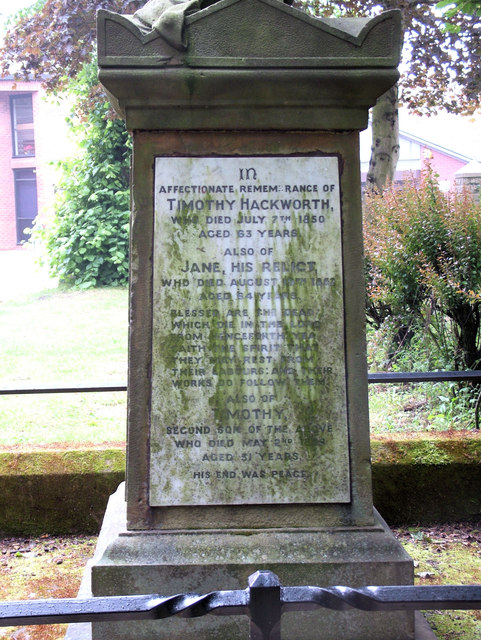Grave of Timothy Hackworth in St. John's churchyard