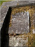 NS2676 : Gravestones from the Old West Kirk by Lairich Rig