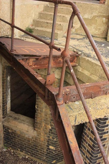 Rusty steps Grain tower