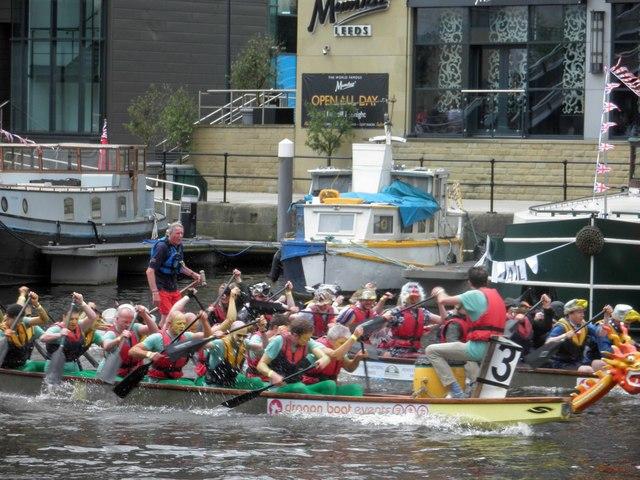Leeds Waterfront festival dragon boat racing