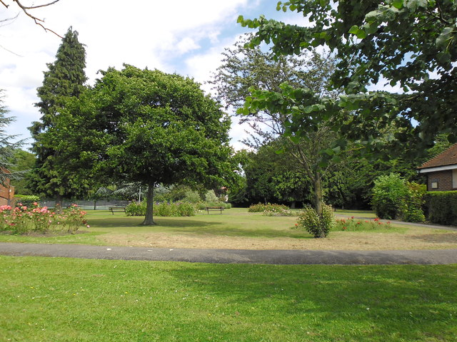 Public gardens adjacent to the library